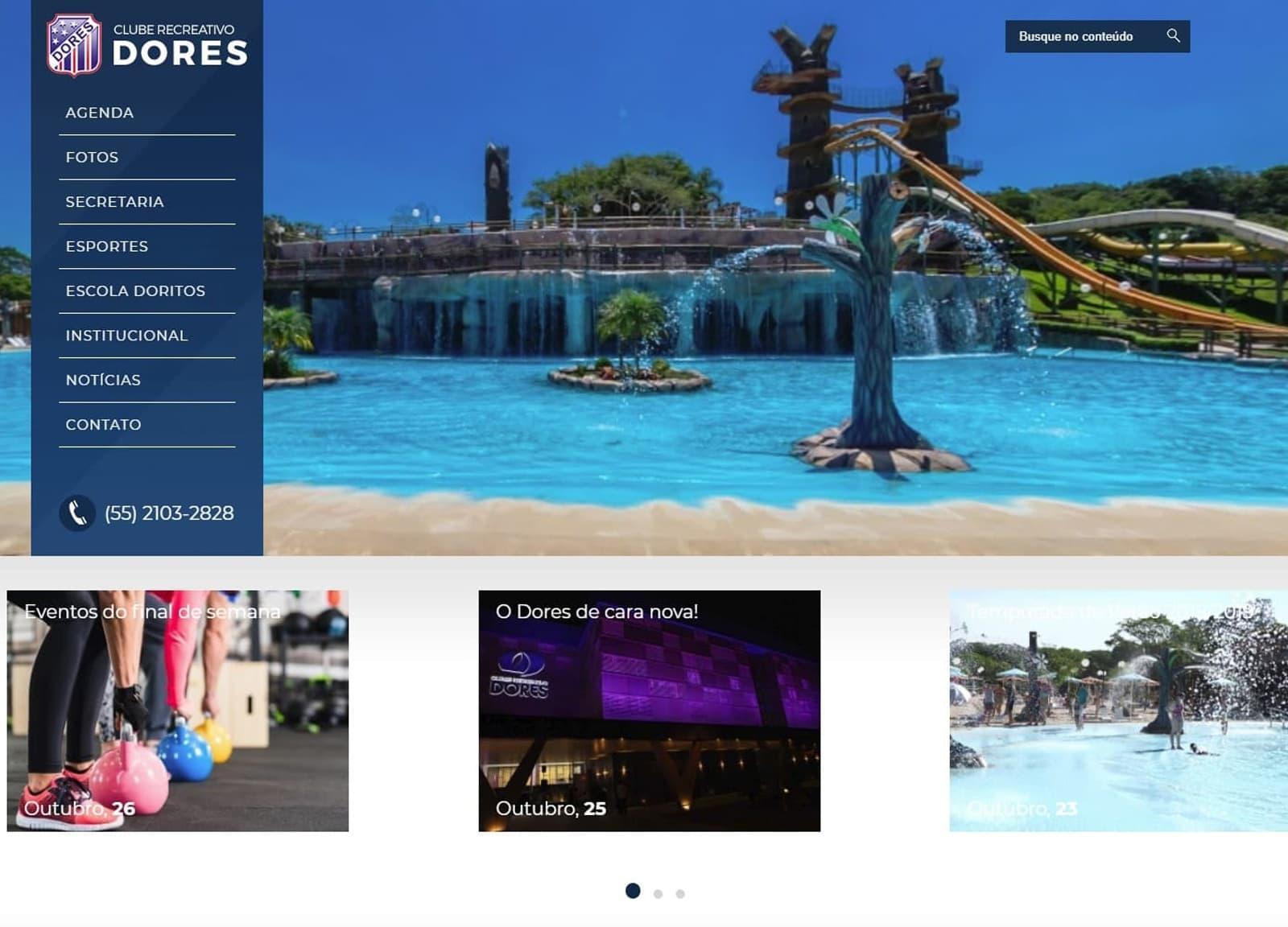 Novo site do Clube Dores